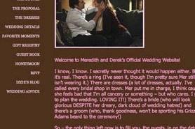 """""""Anatomía de Grey"""" crea una web dedicada a la boda de Meredith y Derek"""