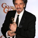 Actor Al Pacino poses in the press room at the 68th Annual Golde