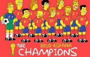 """La Selección Española ha sido """"simpsonizada"""""""