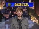 Justin Bieber en el programa de David Letterman